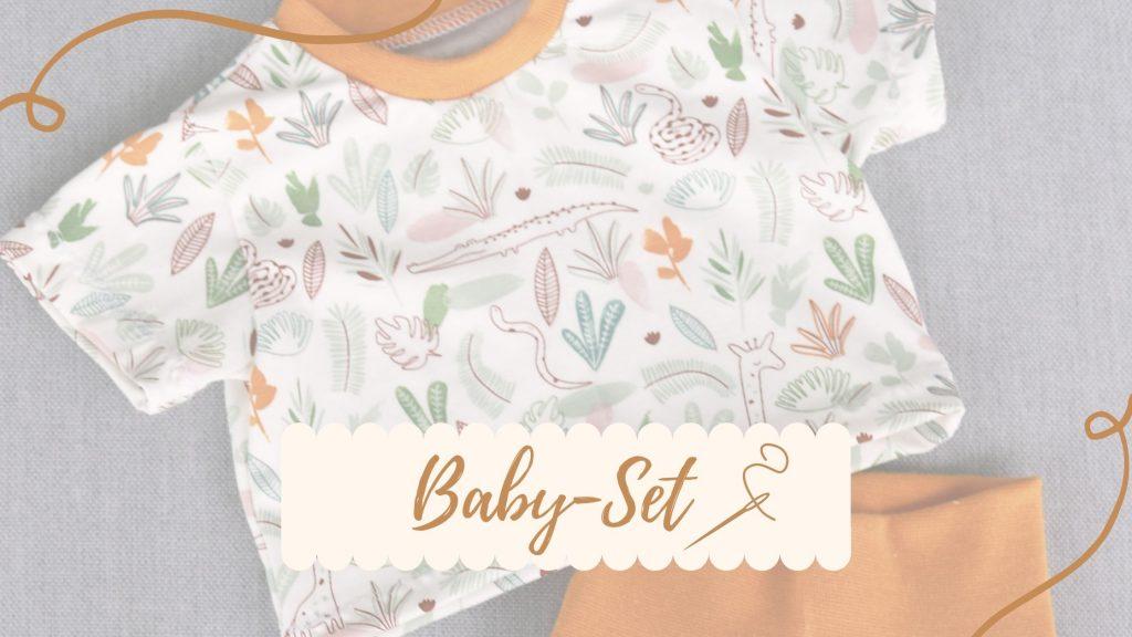DIY Babykleidung – Dein erstes selbstgenähtes Baby Set! (inkl. gratis Schnittmuster)